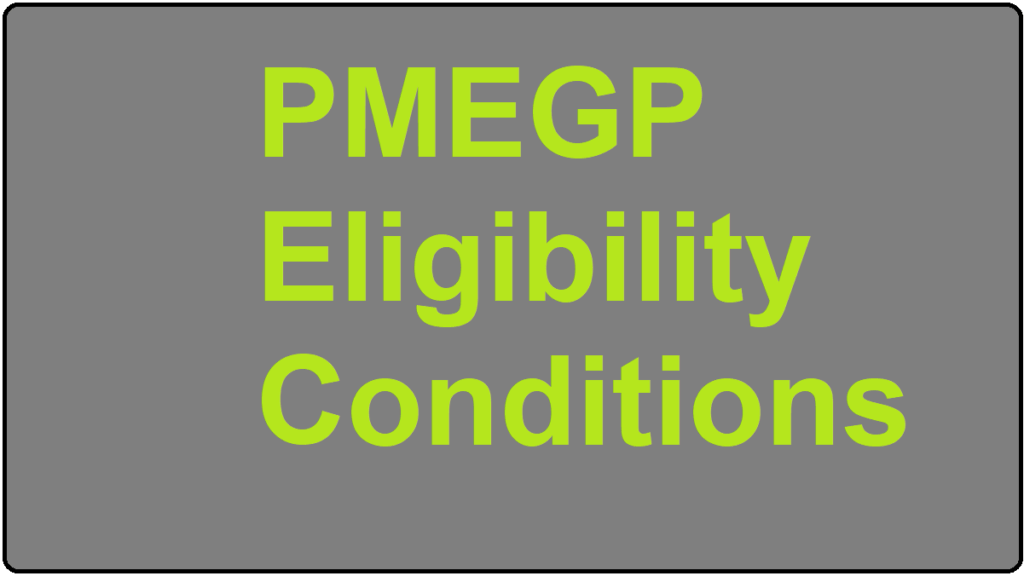 PMEGP Eligibility